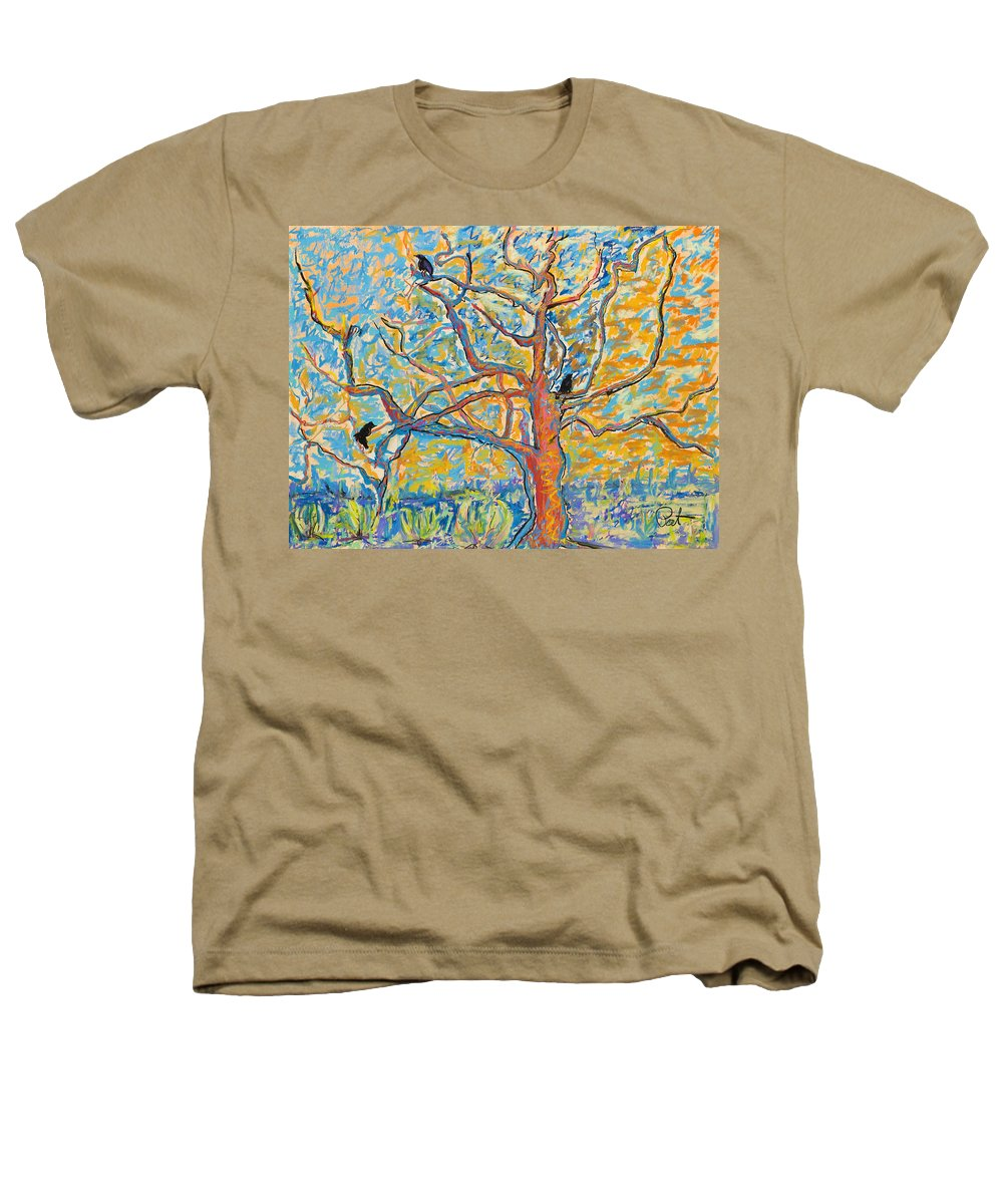 Abstract Painting Heathers T-Shirt featuring the mixed media The Wind Dancers by Pat Saunders-White