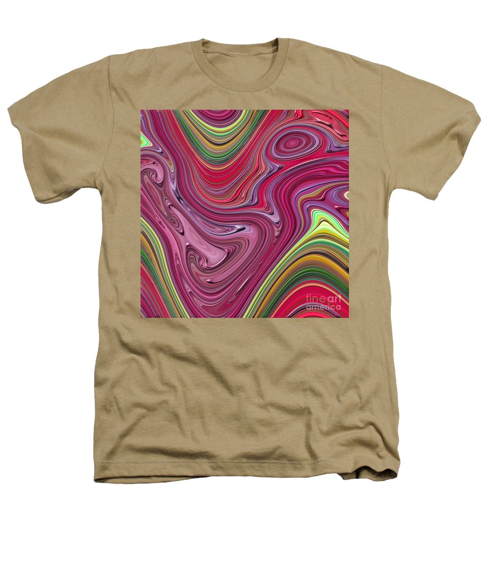 Colorful Heathers T-Shirt featuring the digital art Thick Paint Abstract by Melissa A Benson