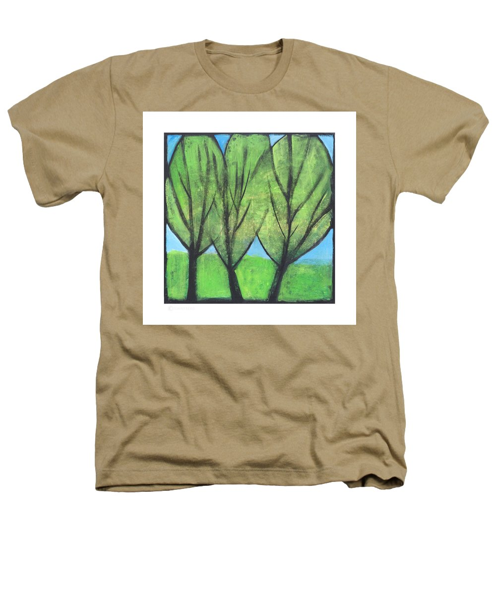 Trees Heathers T-Shirt featuring the painting Three Sisters by Tim Nyberg