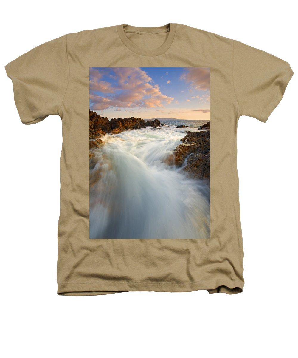 Surge Heathers T-Shirt featuring the photograph Tidal Surge by Mike Dawson