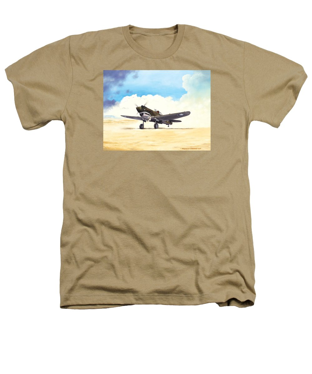 Aviation Heathers T-Shirt featuring the painting Tiger Scramble by Marc Stewart