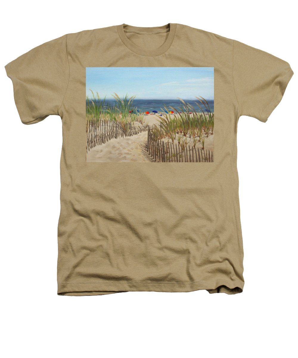 Beach Heathers T-Shirt featuring the painting To The Beach by Lea Novak
