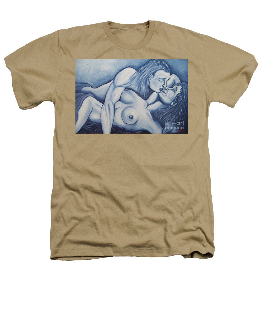 Michael Heathers T-Shirt featuring the painting Together by Michael TMAD Finney