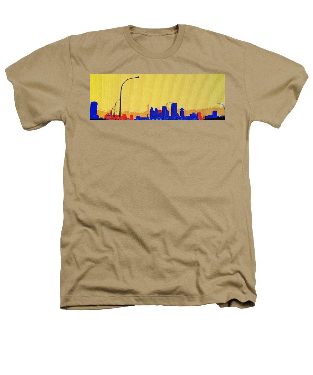 Toronto Heathers T-Shirt featuring the photograph Toronto Lemon Skyline by Ian MacDonald