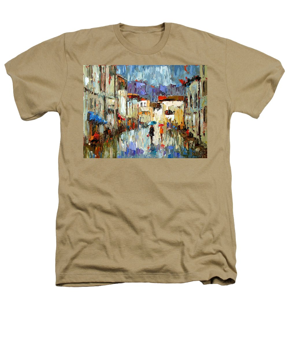 Landscape Heathers T-Shirt featuring the painting Tourists by Debra Hurd