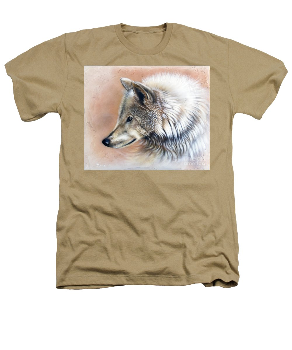 Wolves Heathers T-Shirt featuring the painting Trace IIi by Sandi Baker