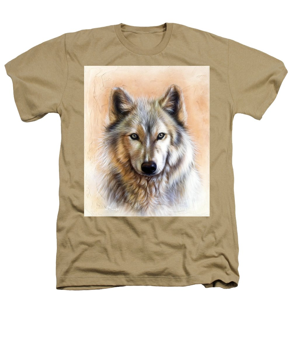 Wolves Heathers T-Shirt featuring the painting Trace Two by Sandi Baker