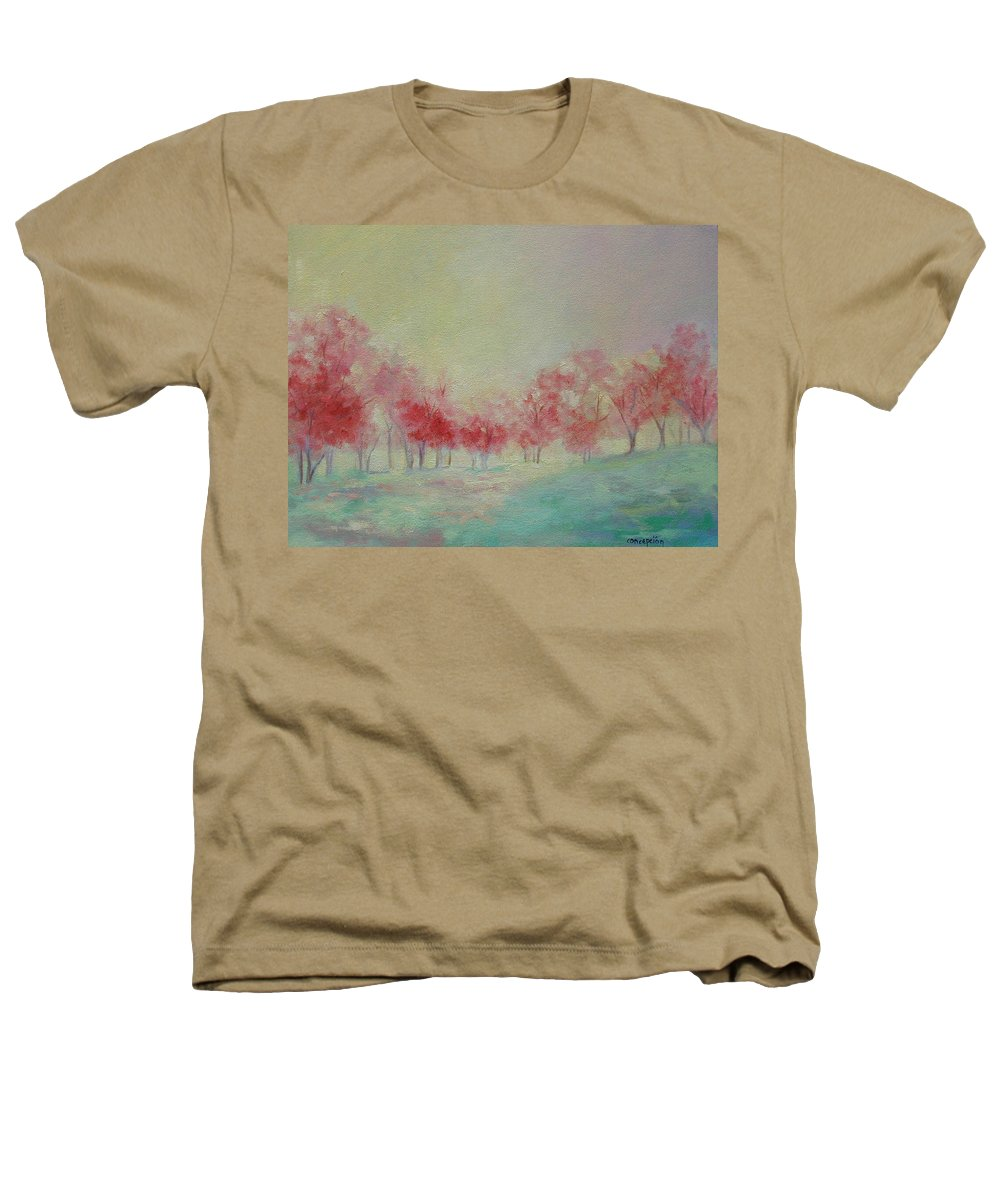 Impressionist Trees Heathers T-Shirt featuring the painting Treeline by Ginger Concepcion