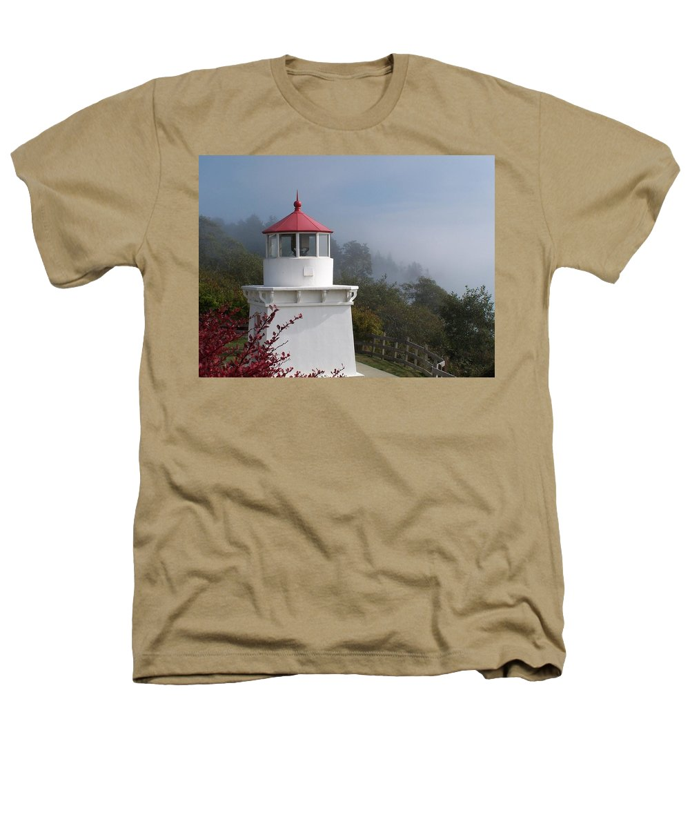 Lighthouse Heathers T-Shirt featuring the photograph Trinidad Head Lighthouse by Gale Cochran-Smith