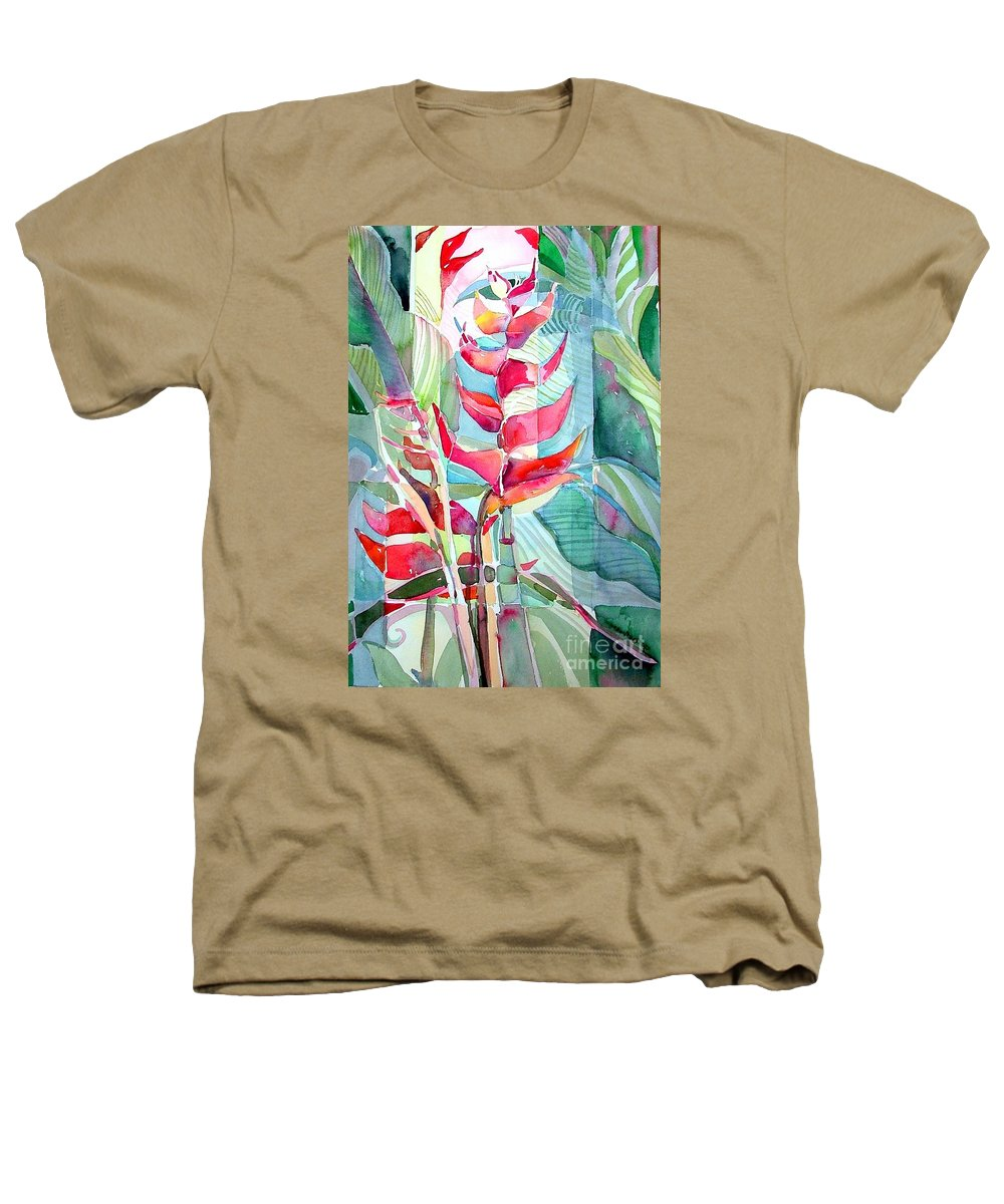 Landscape Heathers T-Shirt featuring the painting Tropicana Red by Mindy Newman