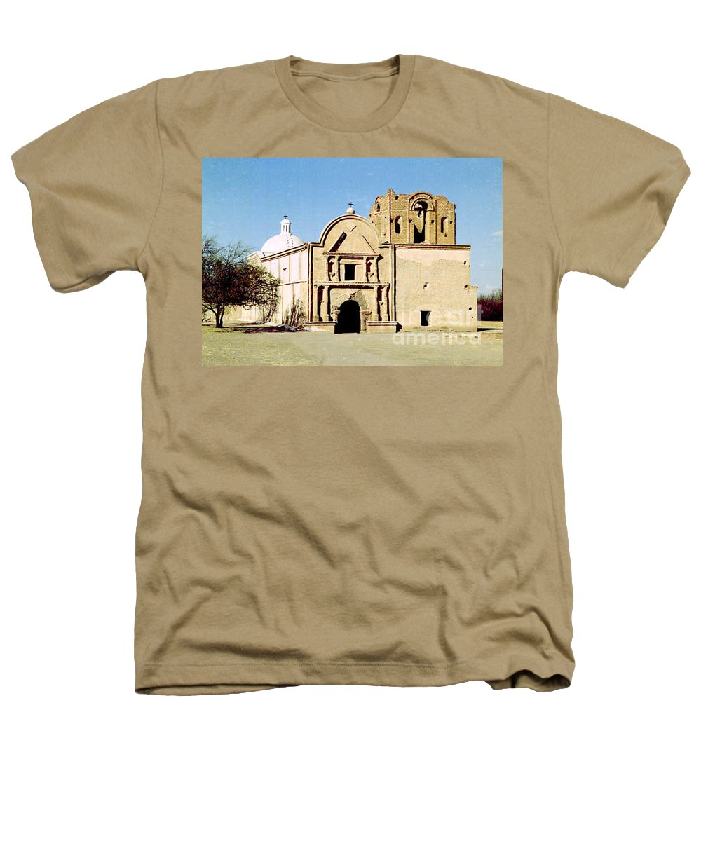 Mission Heathers T-Shirt featuring the photograph Tumacacori by Kathy McClure