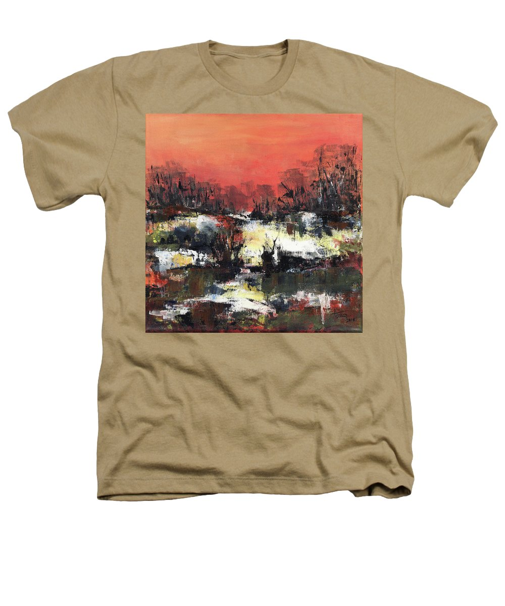 Abstract Heathers T-Shirt featuring the painting Twilight Madness by Aniko Hencz