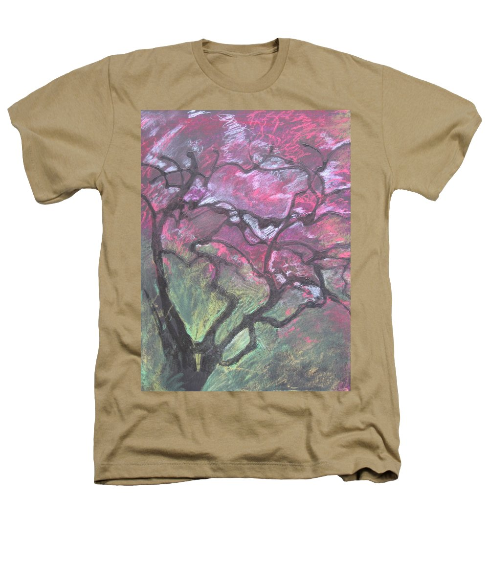 Pastel Heathers T-Shirt featuring the drawing Twisted Cherry by Leah Tomaino