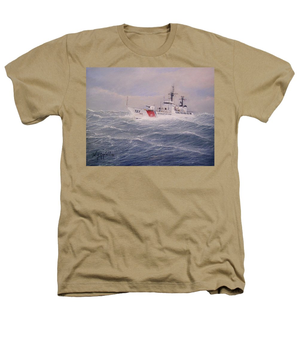 Ship Heathers T-Shirt featuring the painting U. S. Coast Guard Cutter Gallitin by William H RaVell III