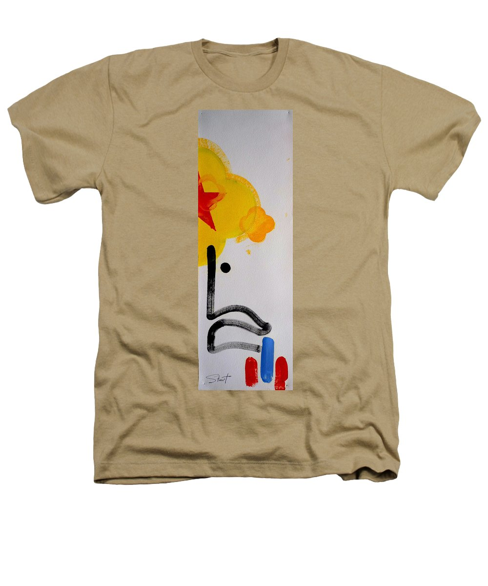 Drawing Heathers T-Shirt featuring the painting UN by Charles Stuart