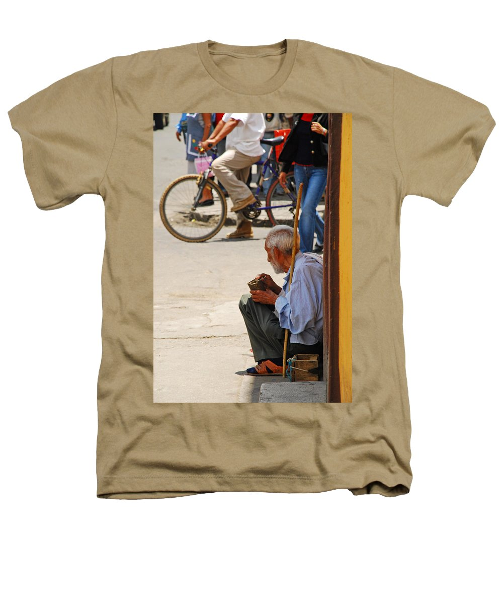 Beggar Heathers T-Shirt featuring the photograph Un Peso Por Favor by Skip Hunt