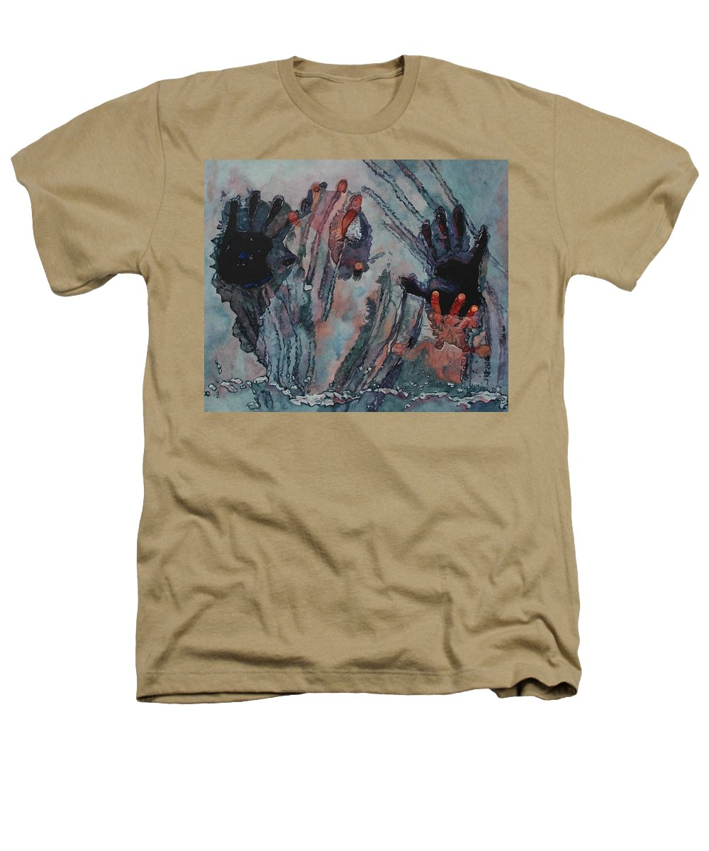 Underneath Heathers T-Shirt featuring the painting Under Ice by Valerie Patterson