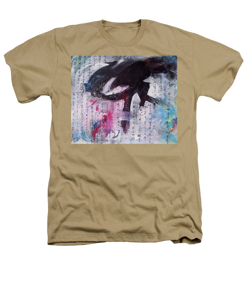 Peom Paintings Paintings Heathers T-Shirt featuring the painting Unread Poem Black And White Paintings by Seon-Jeong Kim