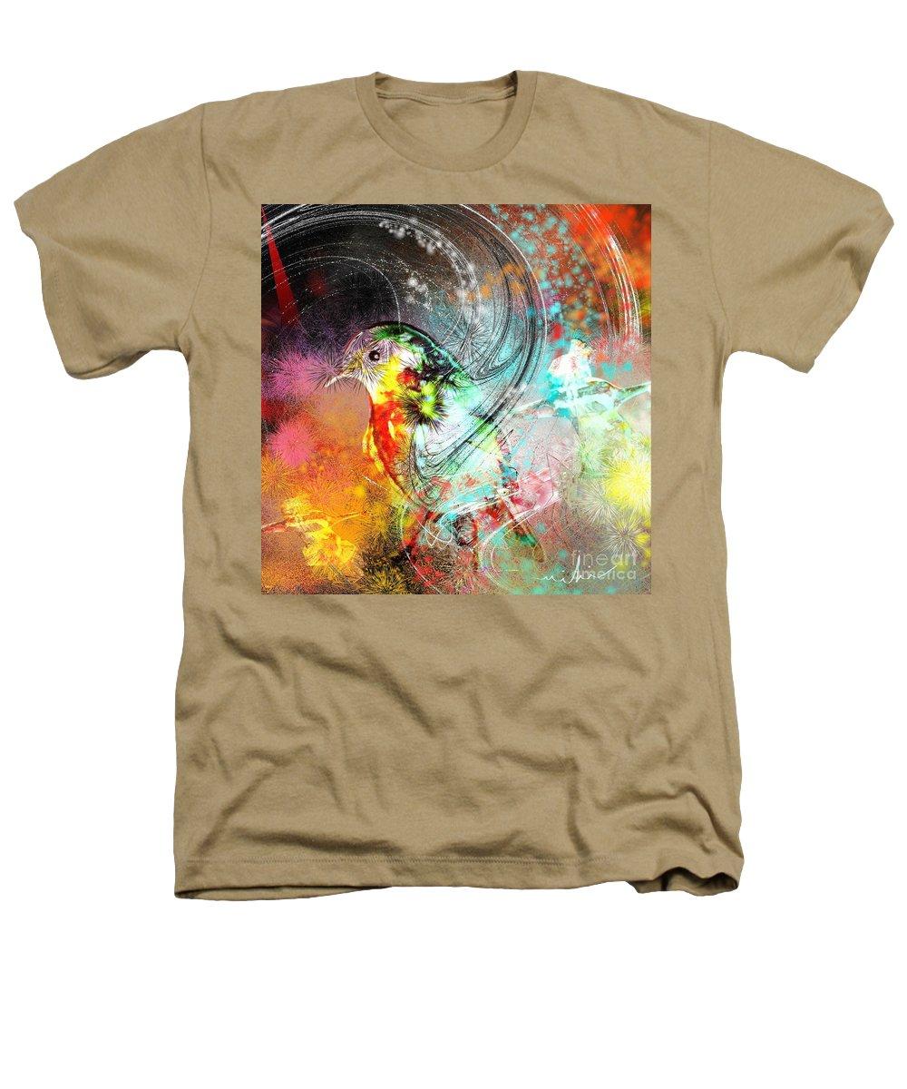 Bird Heathers T-Shirt featuring the painting Vagabond by Miki De Goodaboom