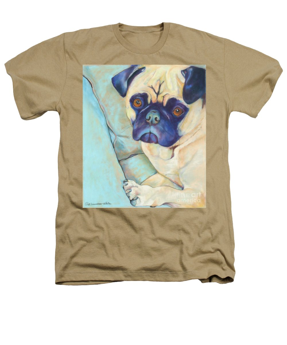 Pug Heathers T-Shirt featuring the pastel Valentino by Pat Saunders-White
