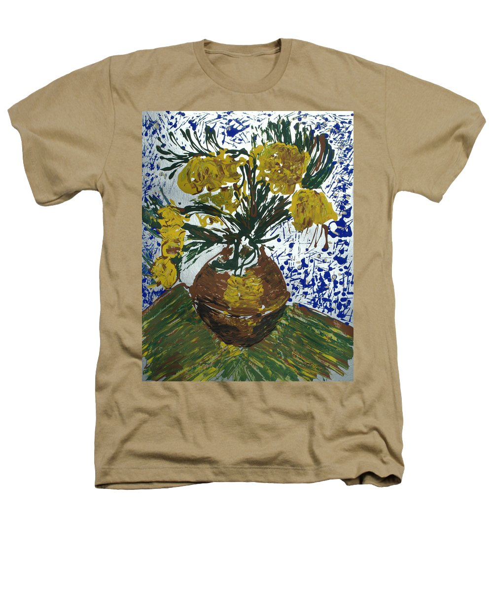 Flowers Heathers T-Shirt featuring the painting Van Gogh by J R Seymour