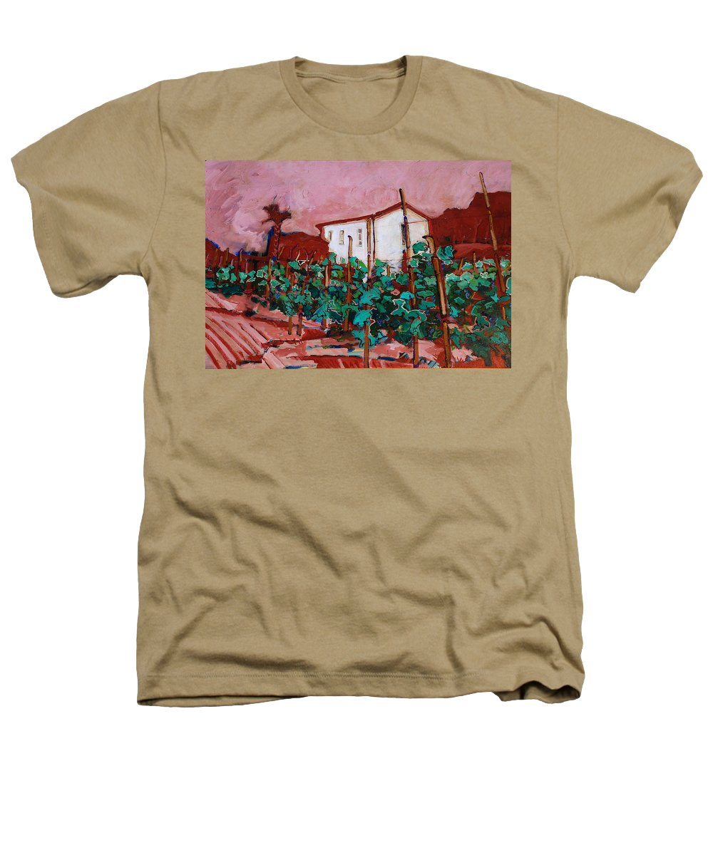 Tuscany Heathers T-Shirt featuring the painting Vecchio Casa Di Pietro by Kurt Hausmann