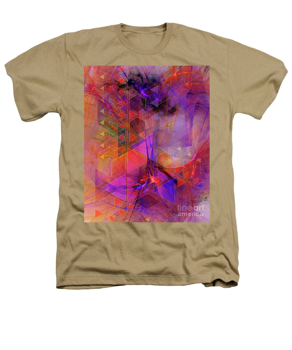 Vibrant Echoes Heathers T-Shirt featuring the digital art Vibrant Echoes by John Beck