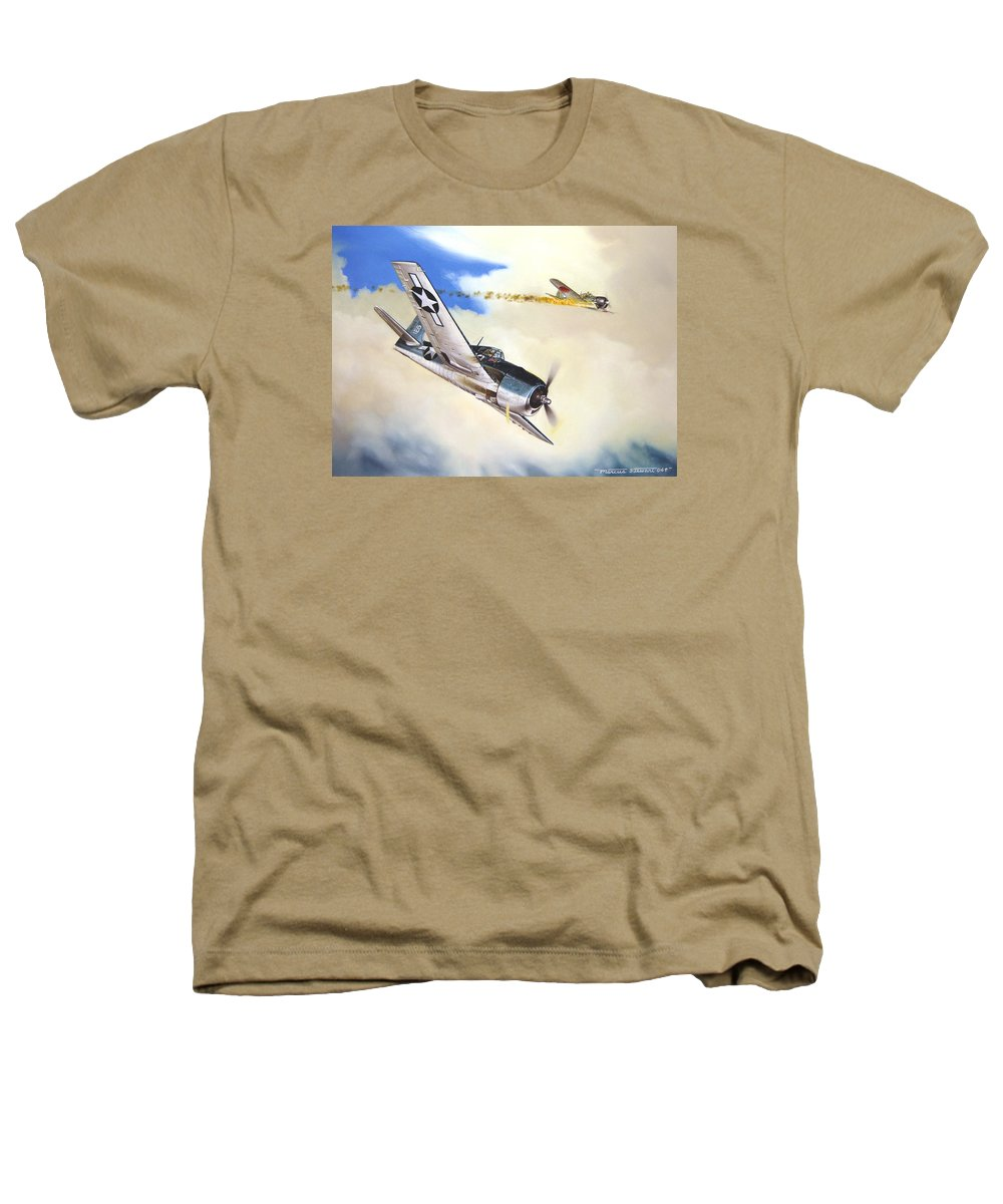 Military Heathers T-Shirt featuring the painting Victory For Vraciu by Marc Stewart