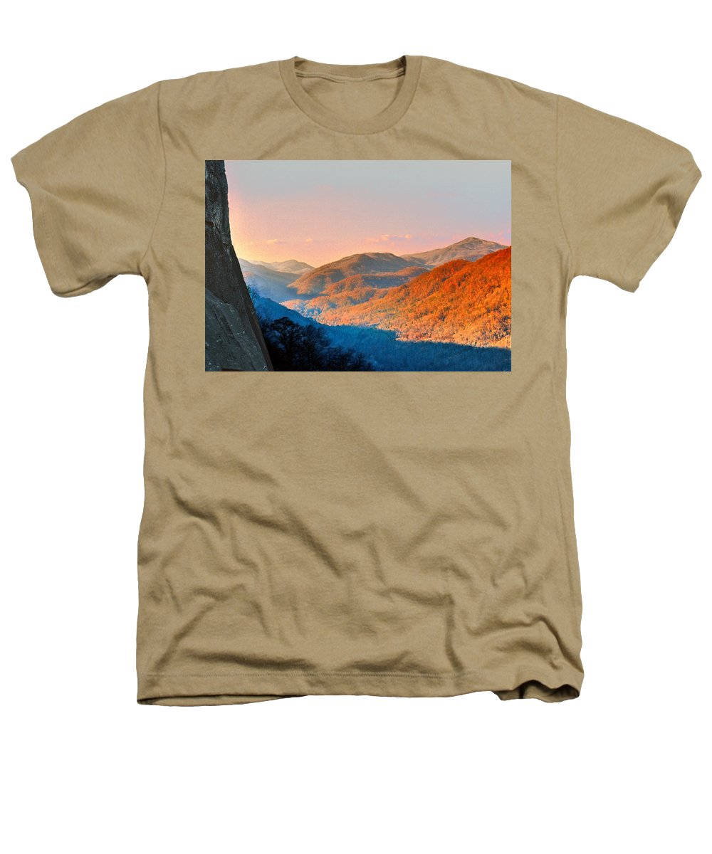 Landscape Heathers T-Shirt featuring the photograph View From Chimney Rock-north Carolina by Steve Karol