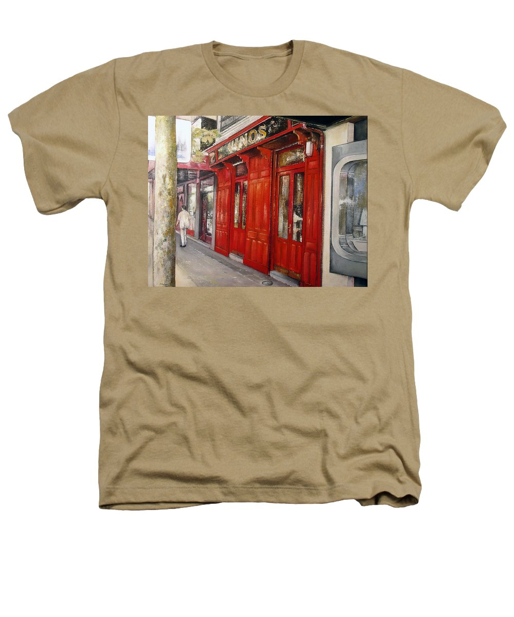 Urban Heathers T-Shirt featuring the painting Vinos Sagasta by Tomas Castano
