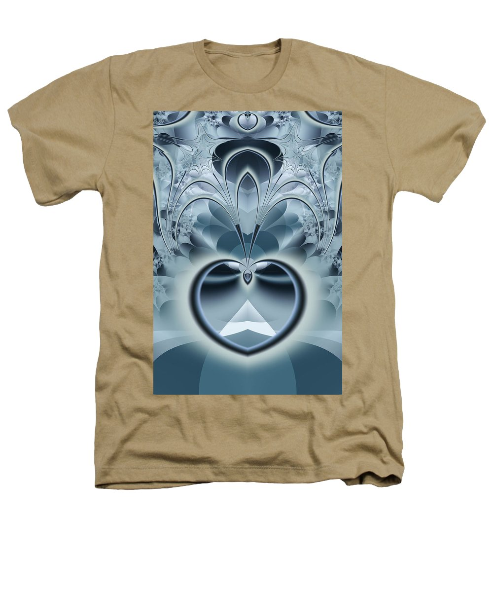 Fractal Heathers T-Shirt featuring the digital art Vision by Frederic Durville