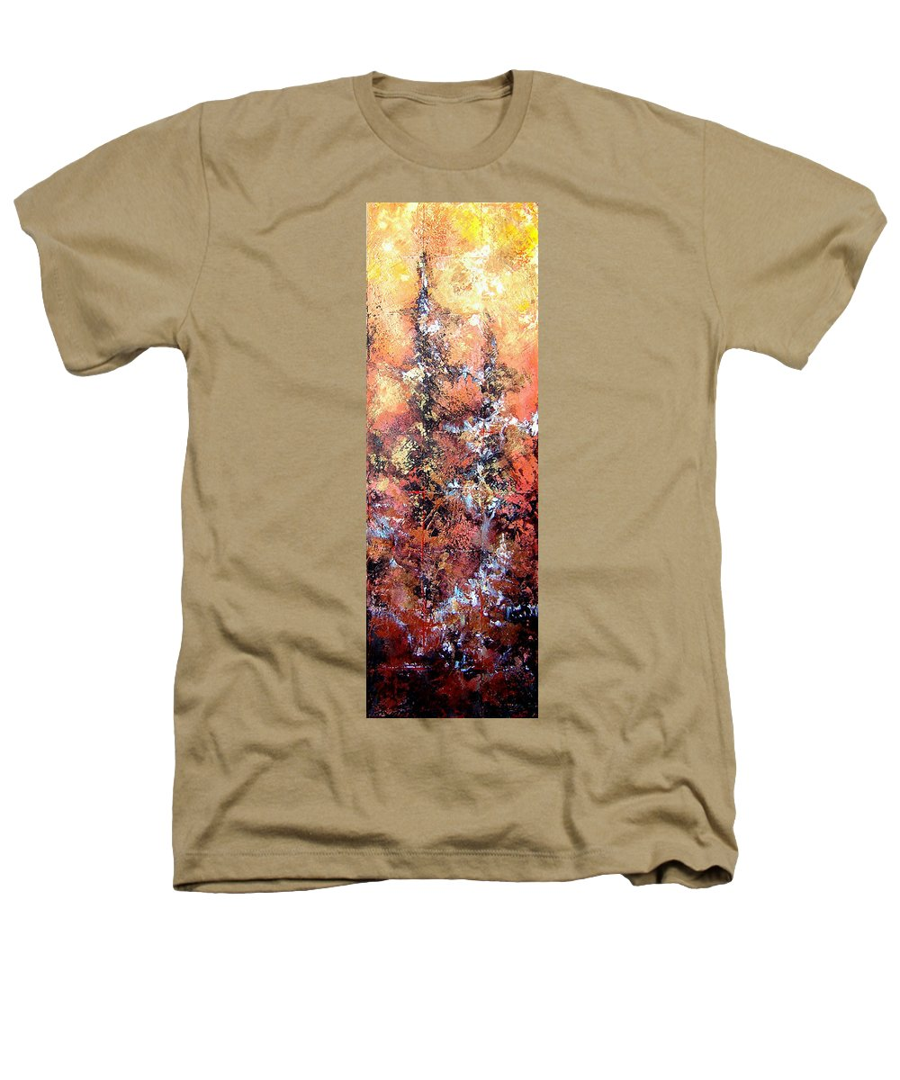 Tile Heathers T-Shirt featuring the painting Wait For Sleep by Shadia Derbyshire