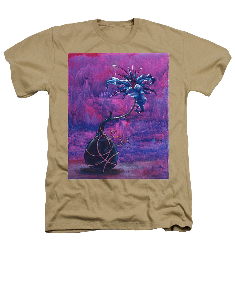 Lily Heathers T-Shirt featuring the painting Waiting Flower by Jennifer McDuffie