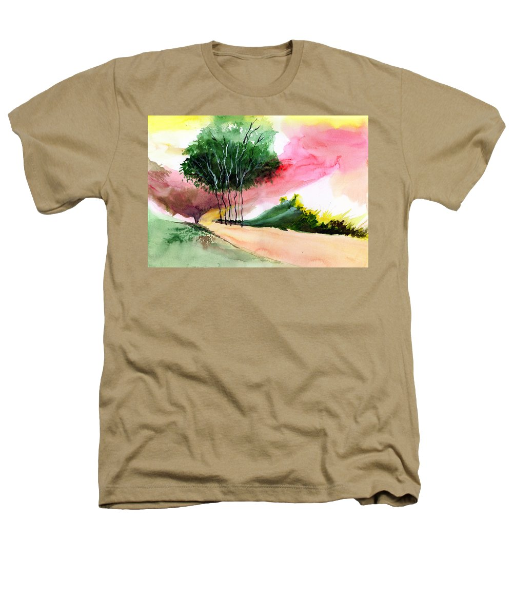 Watercolor Heathers T-Shirt featuring the painting Walk Away by Anil Nene