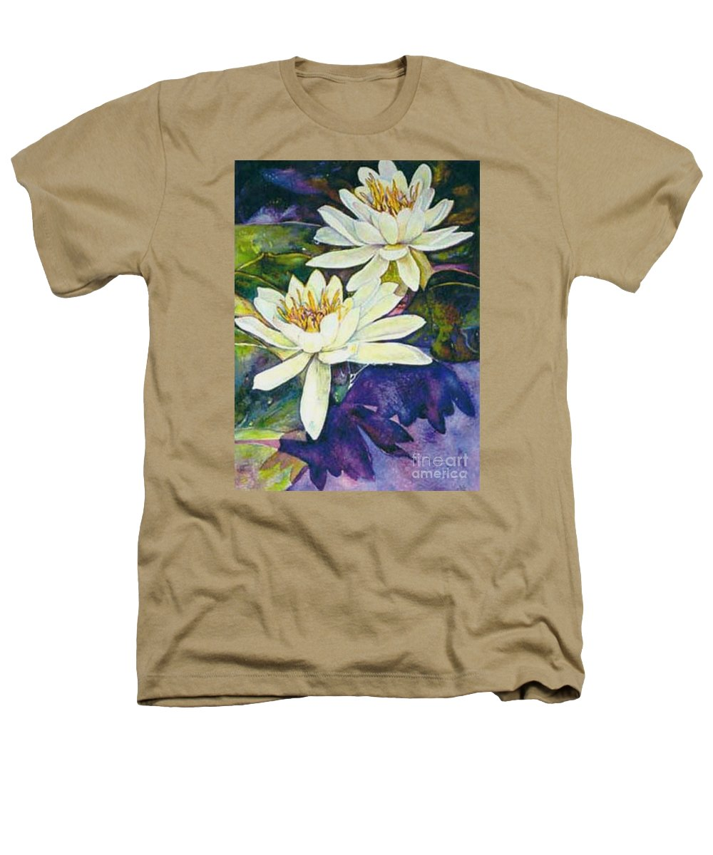Flower Heathers T-Shirt featuring the painting Water Lilies by Norma Boeckler