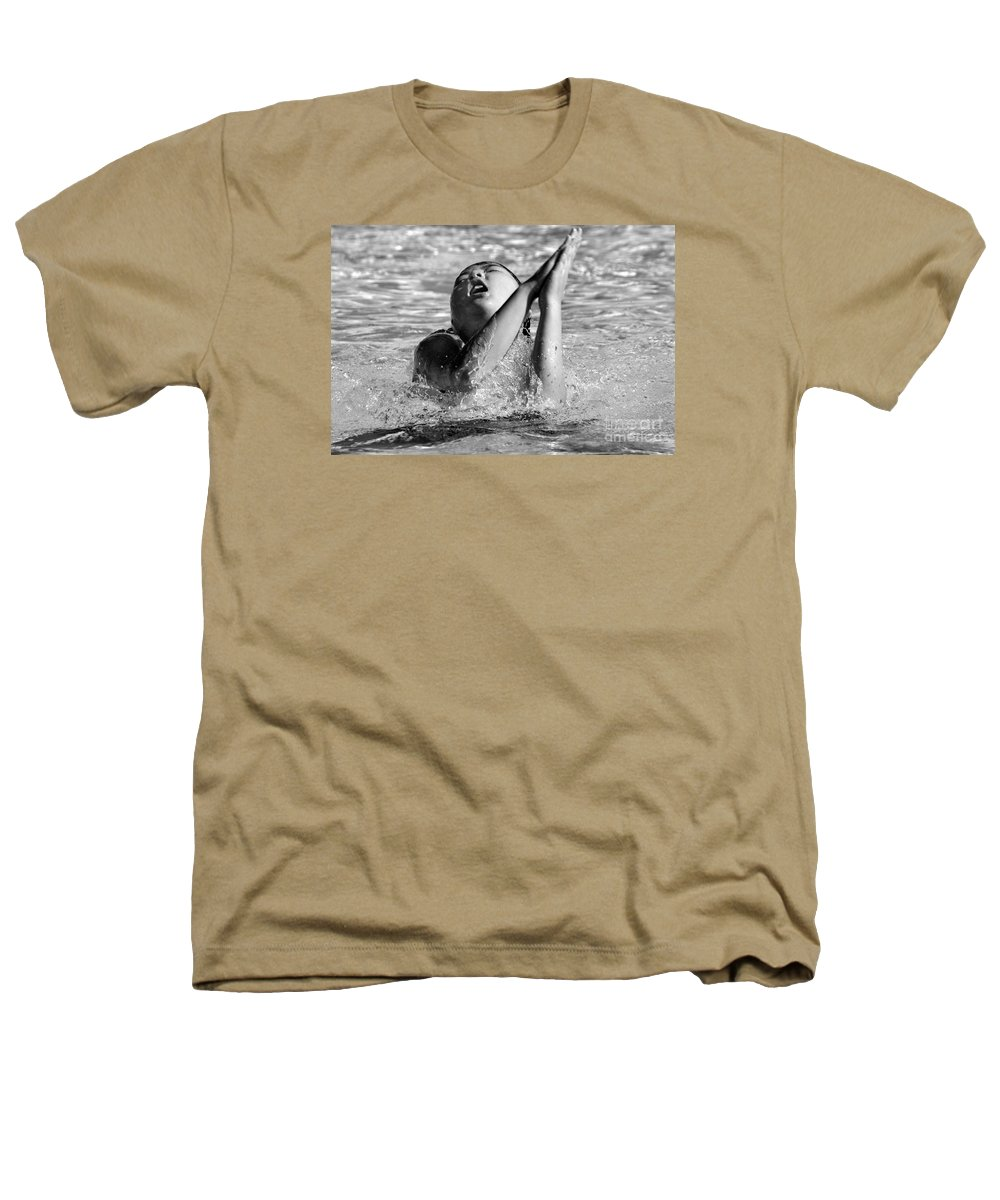 People Heathers T-Shirt featuring the photograph Water Prayer 2009 by Michael Ziegler