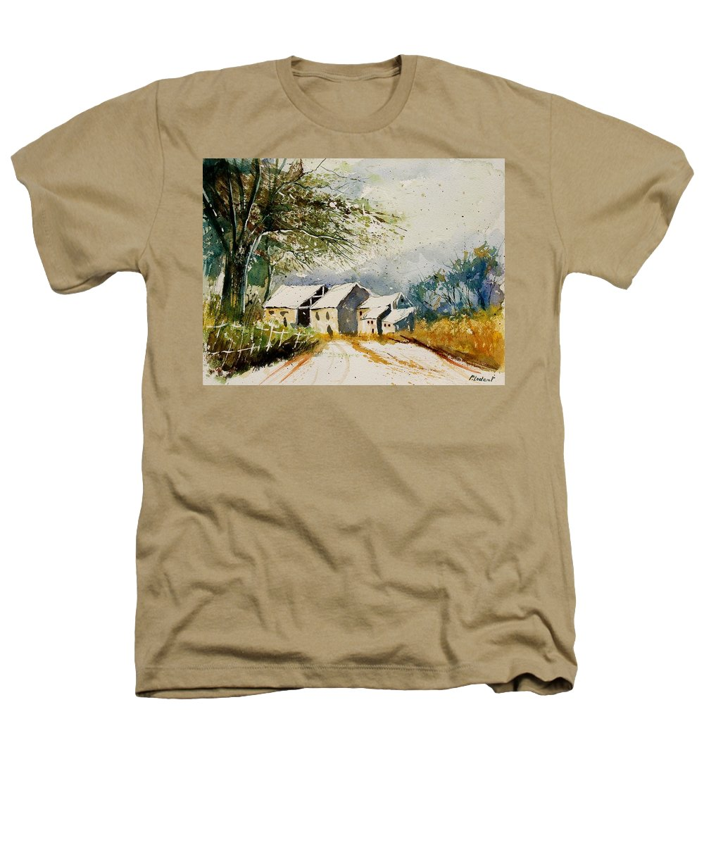 Landscape Heathers T-Shirt featuring the painting Watercolor 010708 by Pol Ledent