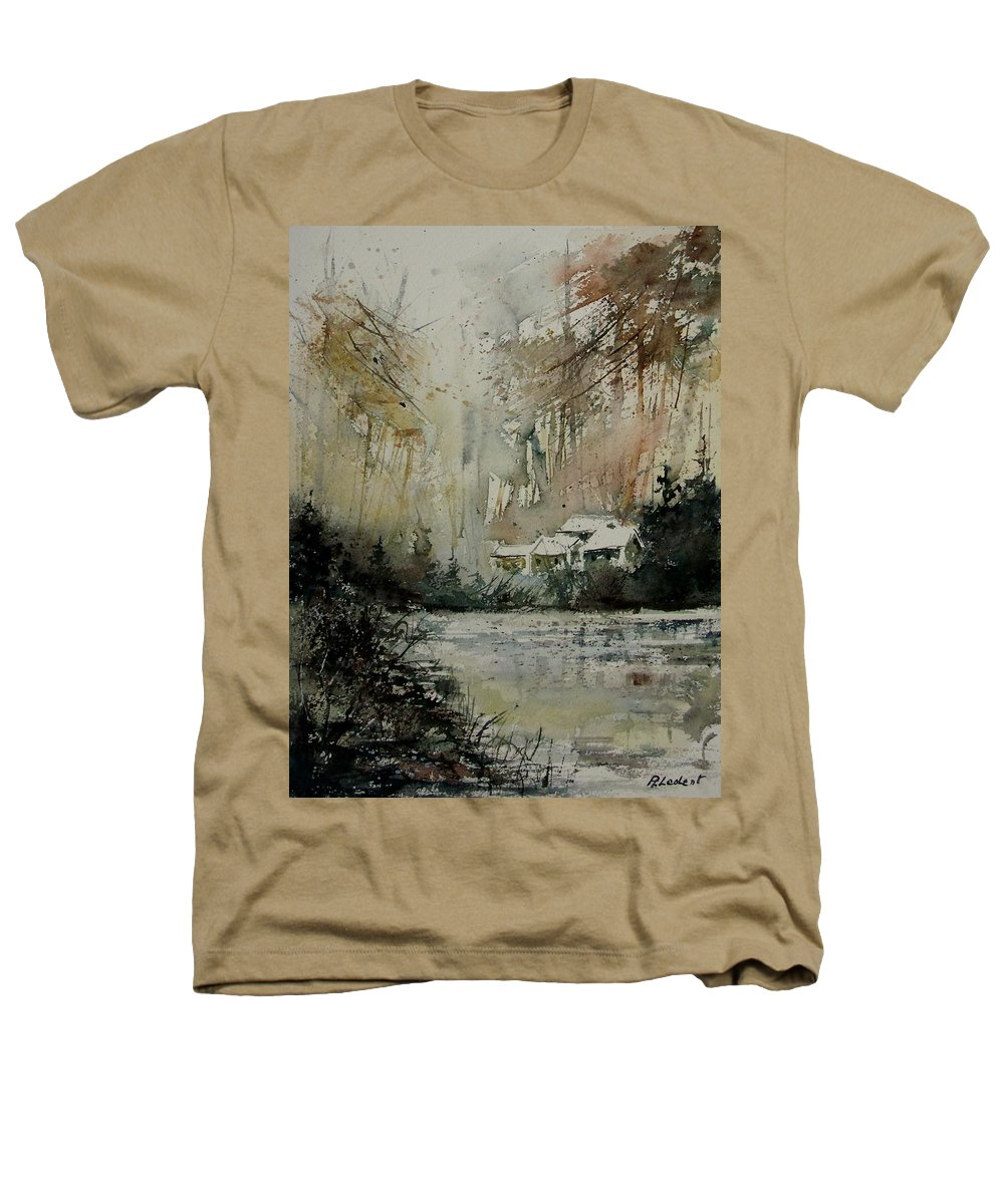Landscape Heathers T-Shirt featuring the painting Watercolor 070608 by Pol Ledent