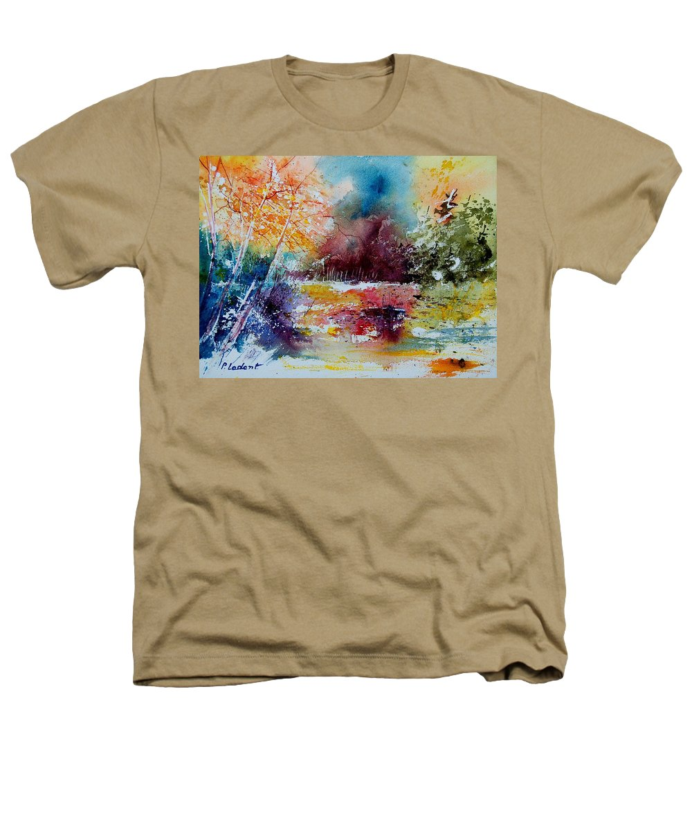 Pond Heathers T-Shirt featuring the painting Watercolor 140908 by Pol Ledent