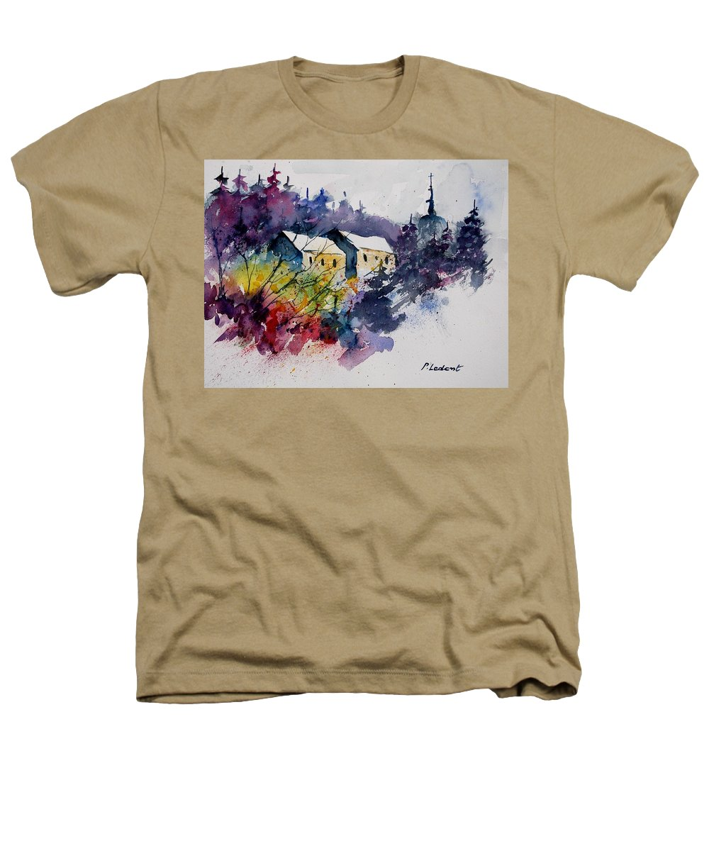 River Heathers T-Shirt featuring the painting Watercolor 231207 by Pol Ledent