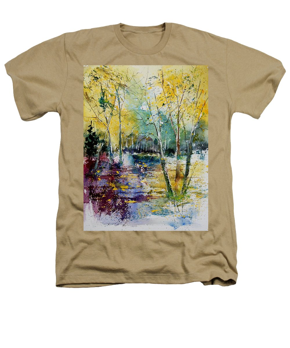 Pond Heathers T-Shirt featuring the painting Watercolor 280809 by Pol Ledent