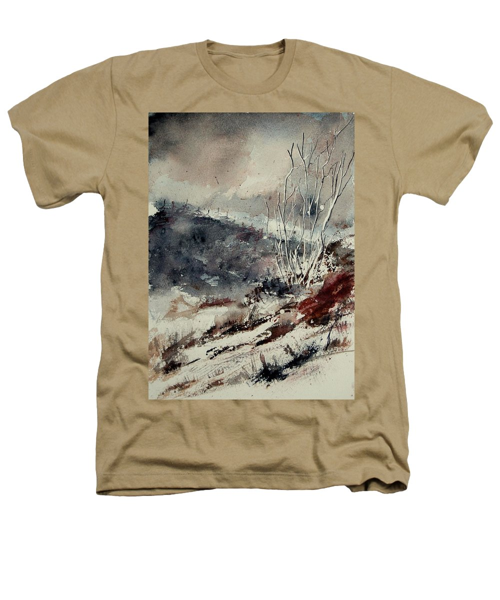 Snow Heathers T-Shirt featuring the print Watercolor 446 by Pol Ledent
