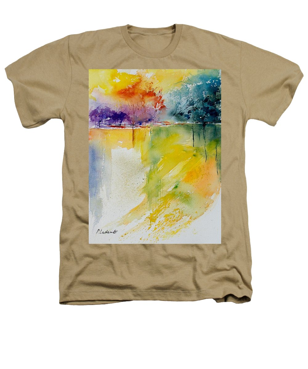 Pond Heathers T-Shirt featuring the painting Watercolor 800142 by Pol Ledent
