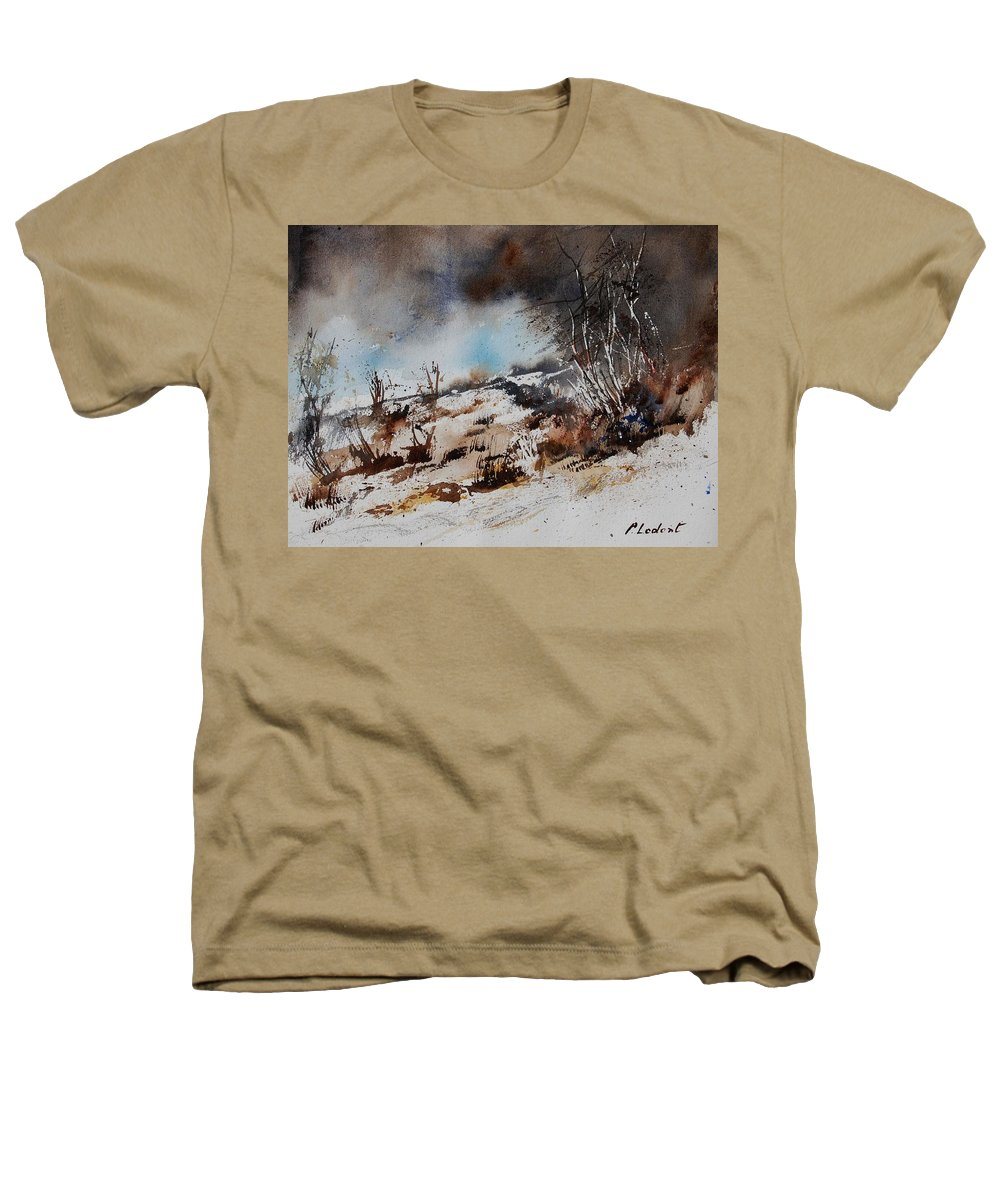 River Heathers T-Shirt featuring the painting Watercolor Jjook by Pol Ledent