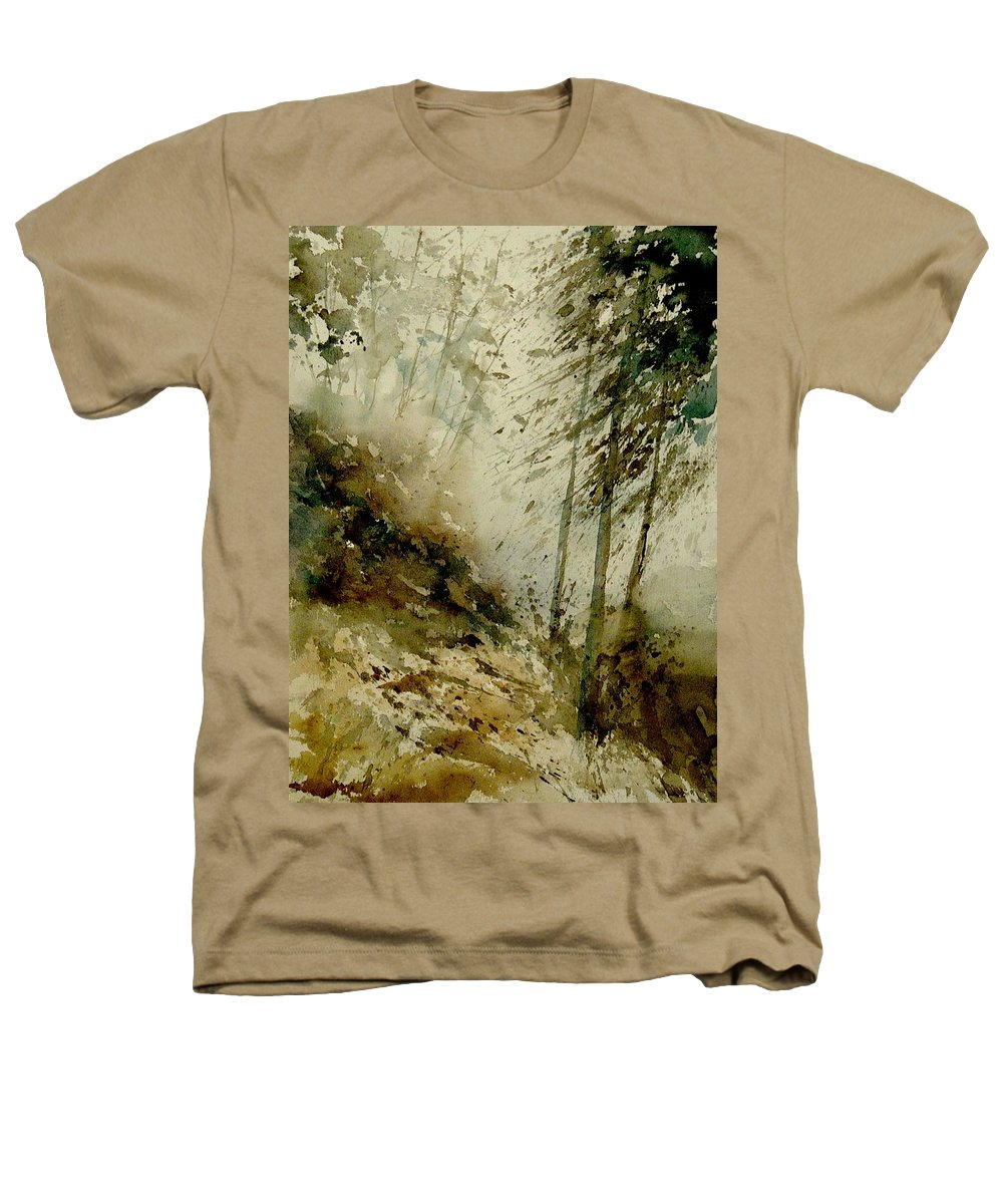 Landscape Heathers T-Shirt featuring the painting Watercolor Misty Atmosphere by Pol Ledent