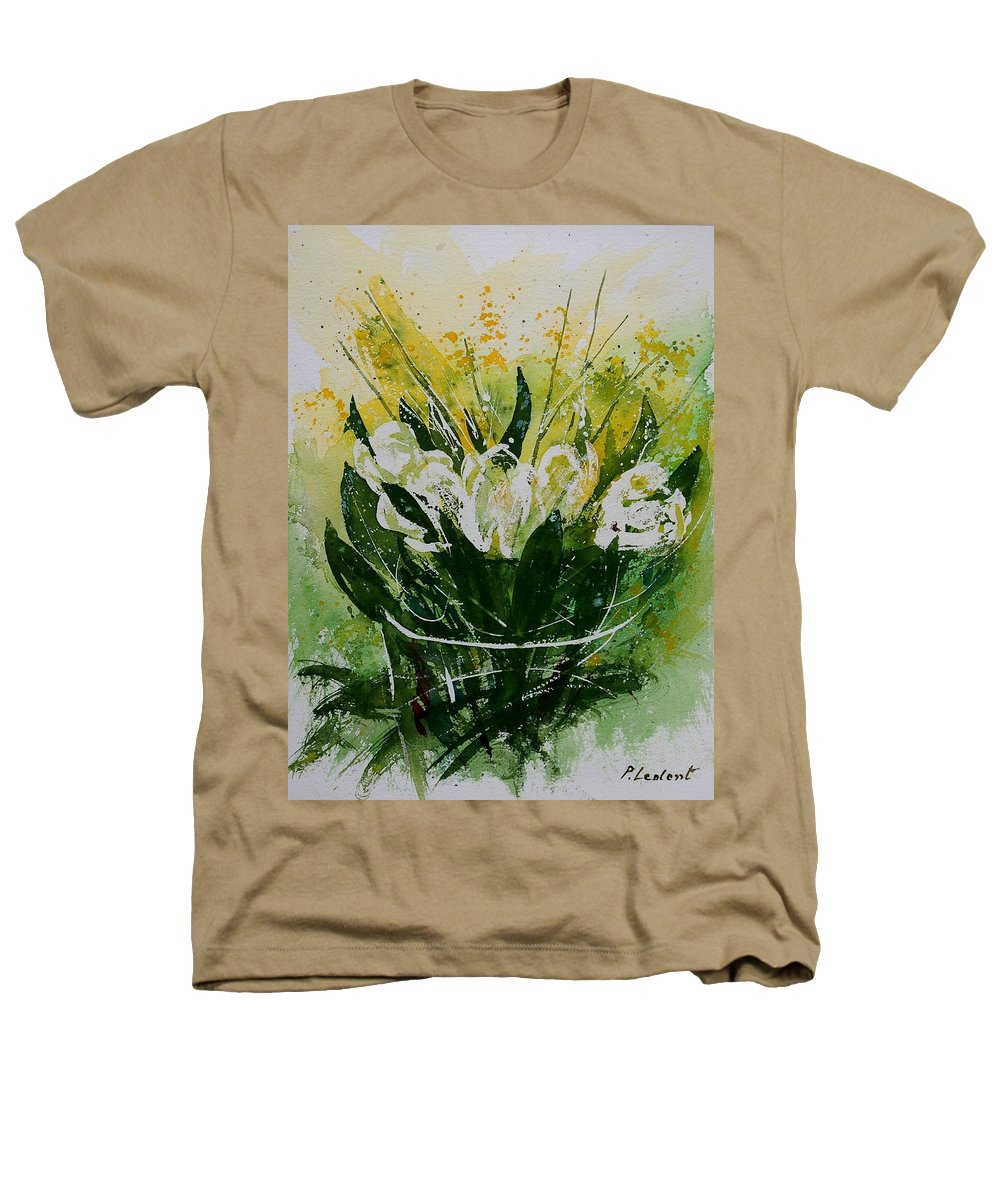 Flowers Heathers T-Shirt featuring the painting Watercolor Tulips by Pol Ledent