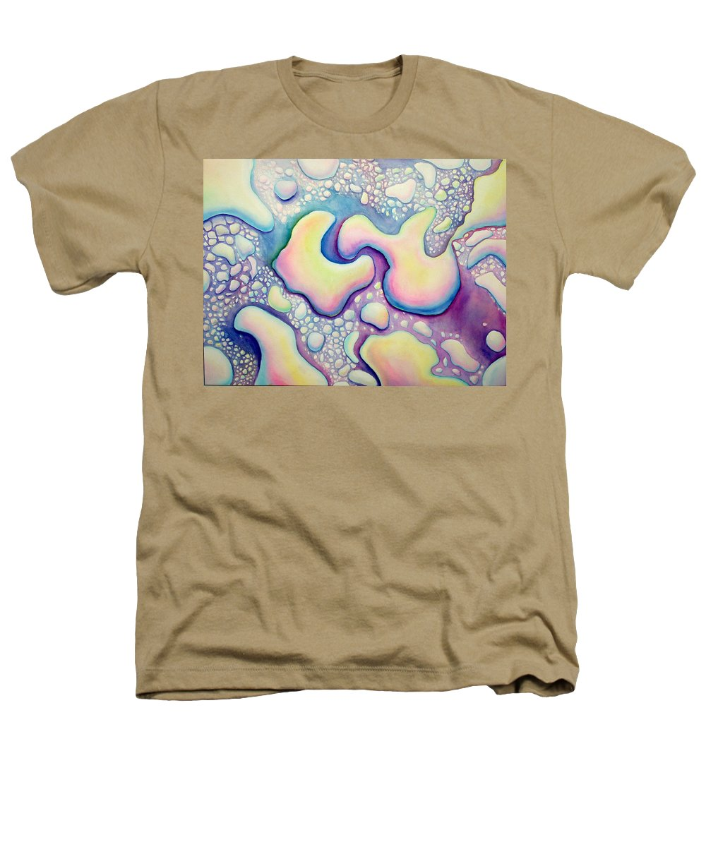 Water Heathers T-Shirt featuring the painting Waterdrop Dance by Nancy Mueller