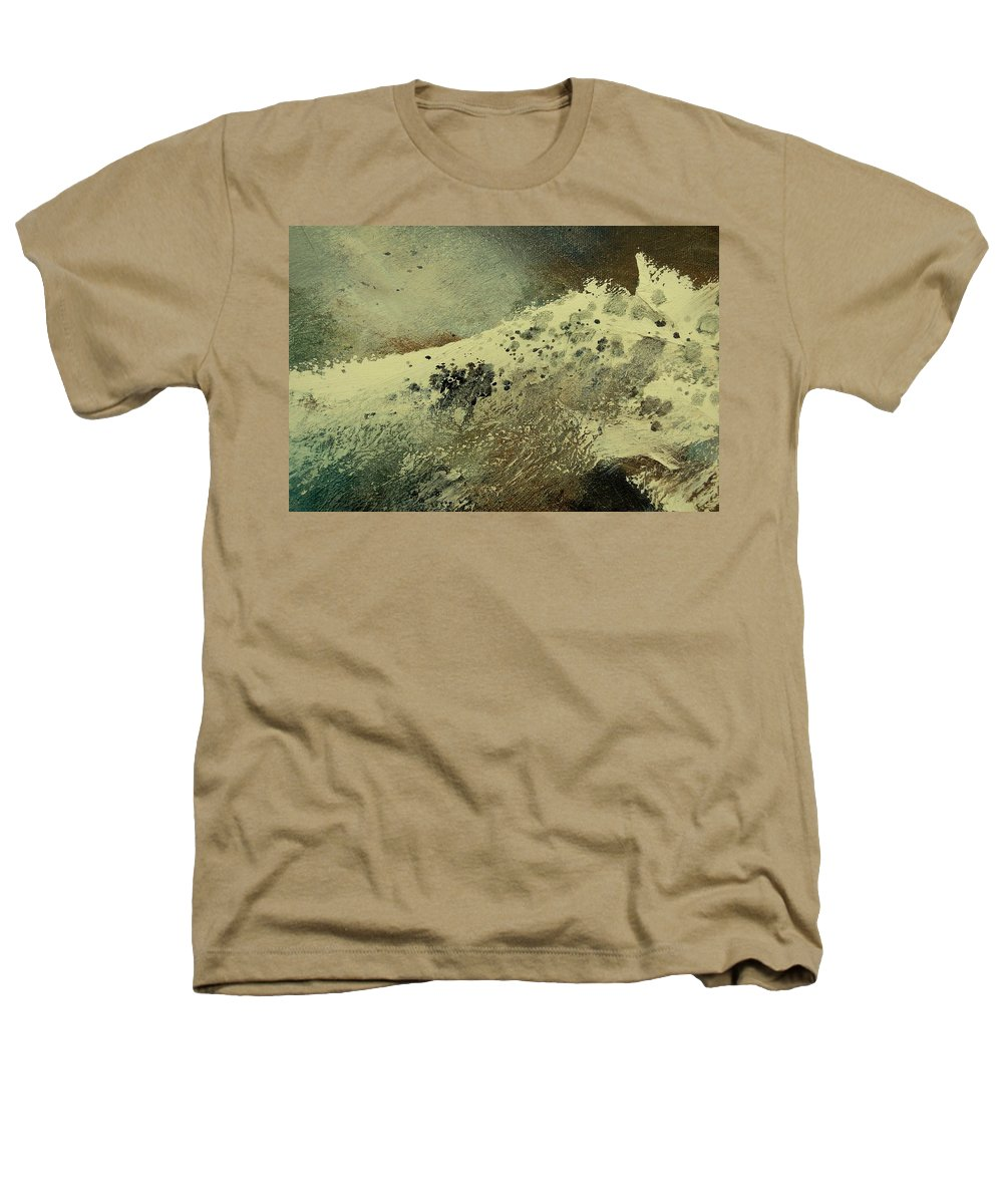 Sea Heathers T-Shirt featuring the painting Wave by Pol Ledent