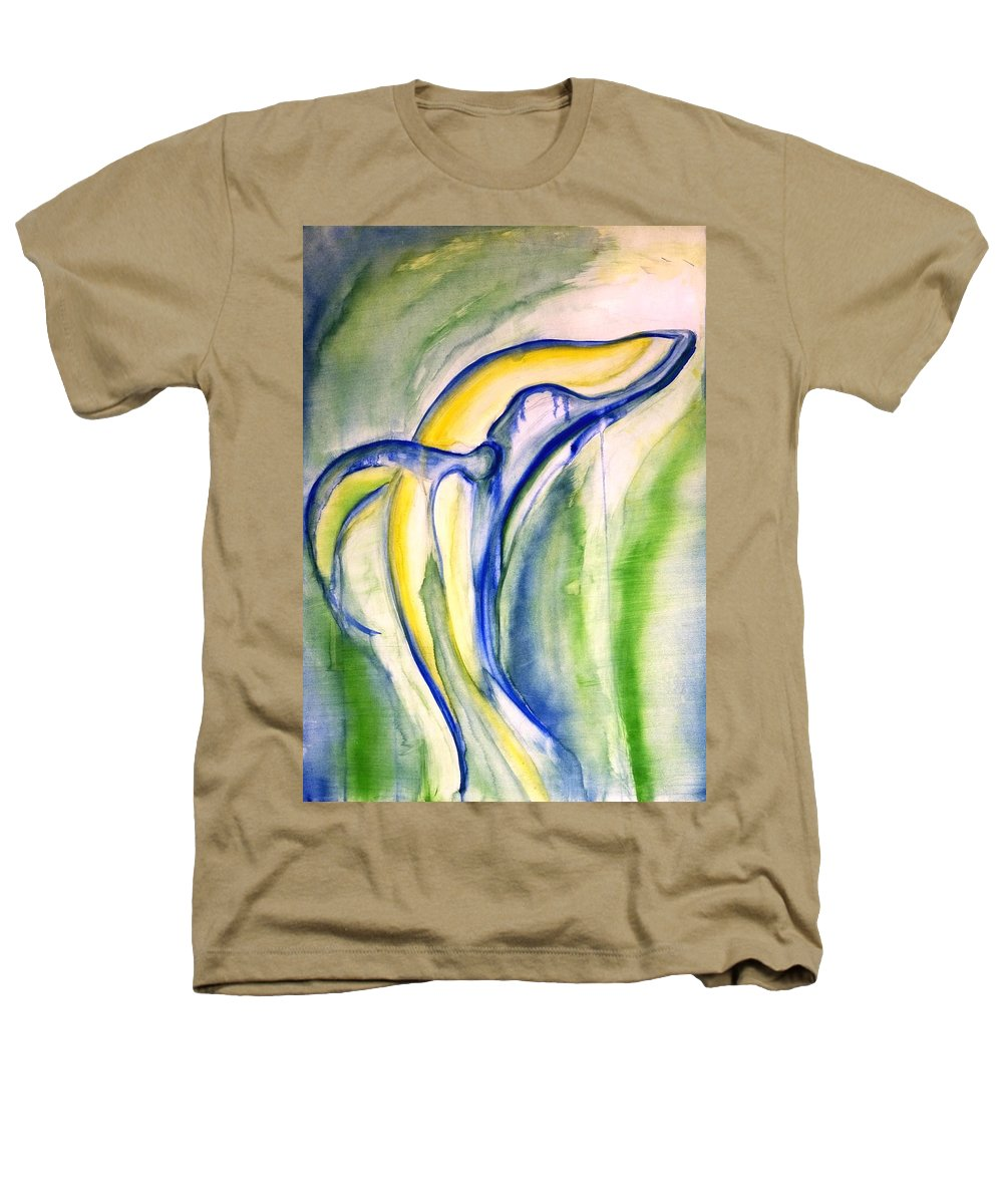 Watercolor Heathers T-Shirt featuring the painting Whale by Sheridan Furrer