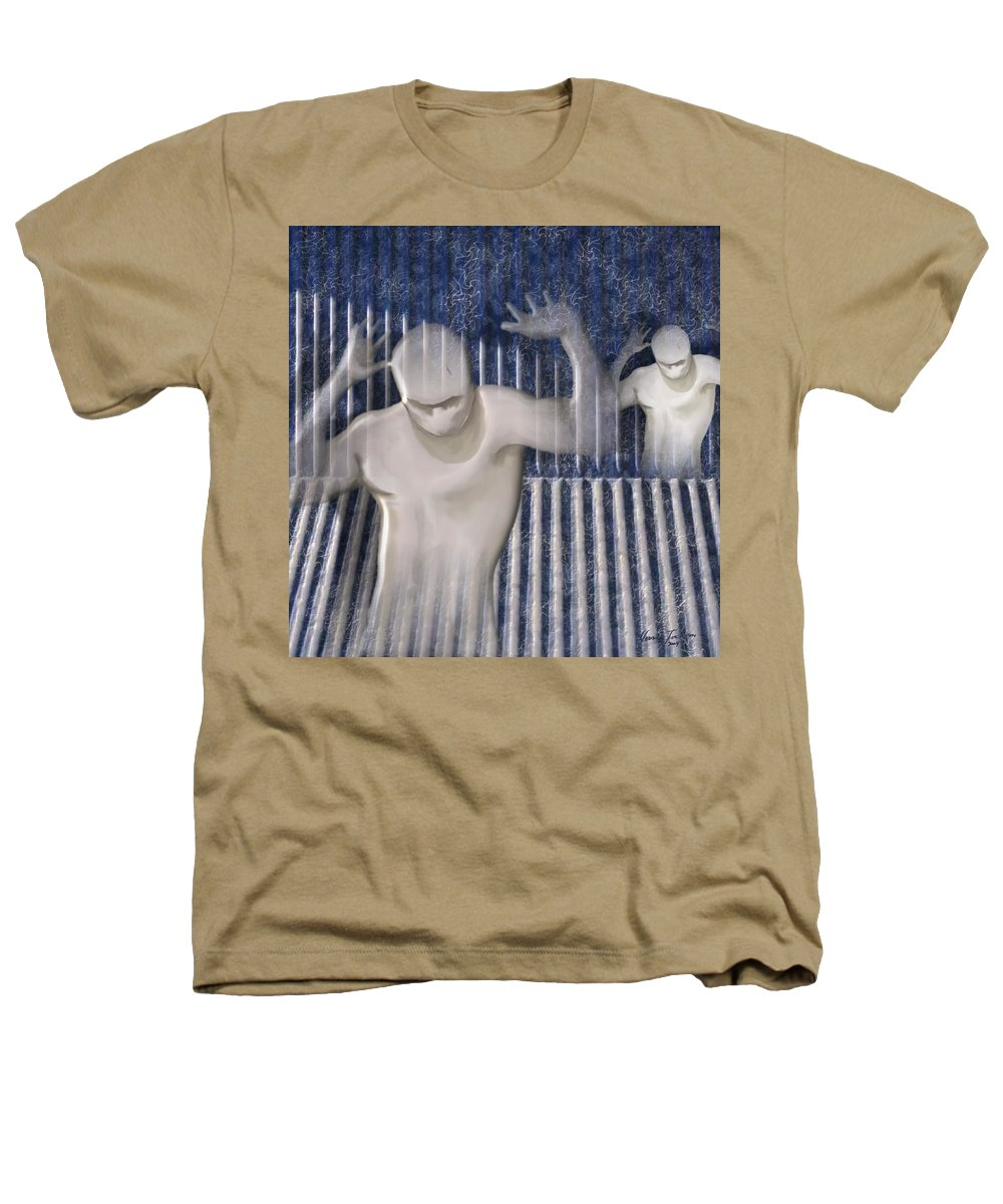 Drugs Prison Waste Fear Hell Heathers T-Shirt featuring the mixed media White Lines by Veronica Jackson